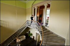 A romantic moment on the stairs –Wedderburn Castle