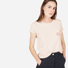 For every limited-edition pink 100% Human product sold, we're proud to donate $5 to Equality Now—which has been fighting to promote equal rights for women around the world since 1992. #HumanTogether     Featured here is our women's Cotton Box Tee with a small print, which comes with a pink 100% Human pin—free with every purchase while supplies last.