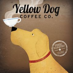 want for the kitchen!!  Yellow Dog Coffee Co. Prints by Ryan Fowler at AllPosters.com