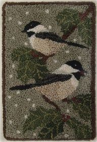 black capped chickadee punchneedle - Google Search