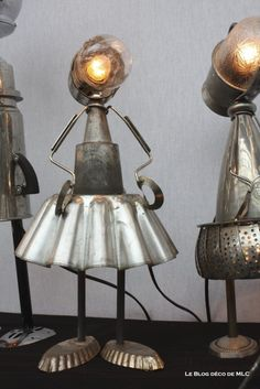 lampe ustensile de cuisine danseuse - Le blog déco de MLC My Home Design, House Design, Lampe Steampunk, Aluminium Kitchen, Deco Originale, Blog Deco, Home Staging, Decorative Objects, Decoration