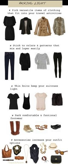 how to pack light, must remember this!