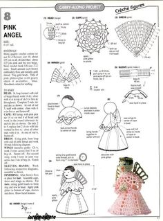 More angels on FB 2 Free Pattern More Pattern Crochet Fairy, Crochet Angels, Diy Crochet, Crochet Crafts, Crochet Doilies, Crochet Projects, Crochet Snowflakes, Christmas Charts, Crochet Christmas Ornaments