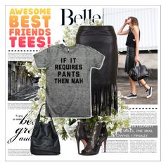 """""""AwesomeBestFriendsTees 8"""" by gaby-mil ❤ liked on Polyvore featuring christopher. kon, Rebecca Minkoff and New Growth Designs"""