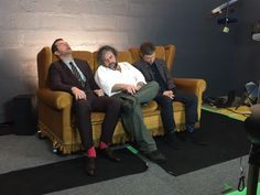 Meanwhile behind the scenes ...look at Martin's socks! I love them!