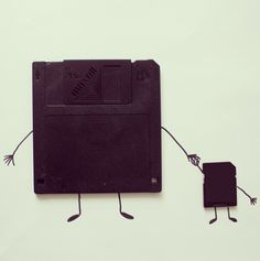 Whimsical Illustrations Merge with Everyday Objects by Javier Perez Creative Illustration, Photo Illustration, Alex Solis, Floppy Disk, Stronger Than You, Everyday Objects, Everyday Items, Illustrations, Creative Art