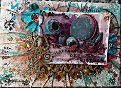 Butterflies N' Buttons: the remnants of history #decoartprojects #decoartmedia #mixedmedia