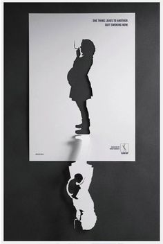 """Smoking when you are pregnant"" Health Preventive Campaign. I love it when people are clever with their work and especially for a worthwhile piece!"