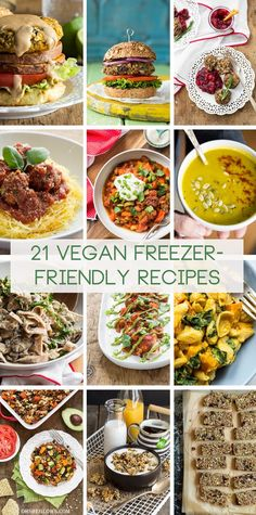 21 Vegan (and mostly gluten-free) Freezer-Friendly Meal/Snack Recipes + My Tips for Freezing — by Oh She Glows.