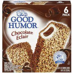 Good Humor Chocolate Eclair Ice Cream Bars, 3 oz, 6ct