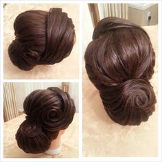 Textured Classy Chignon Updo Hairstyle!