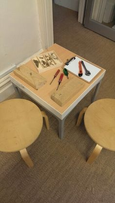 Tinkering table for Walker Learning Investigations Program