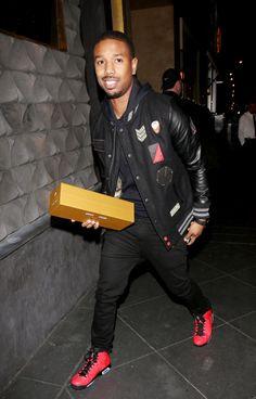 Michael B. Jordan seen leaving Miles Teller's birthday party at Chi Lin restaurant in Los Angeles