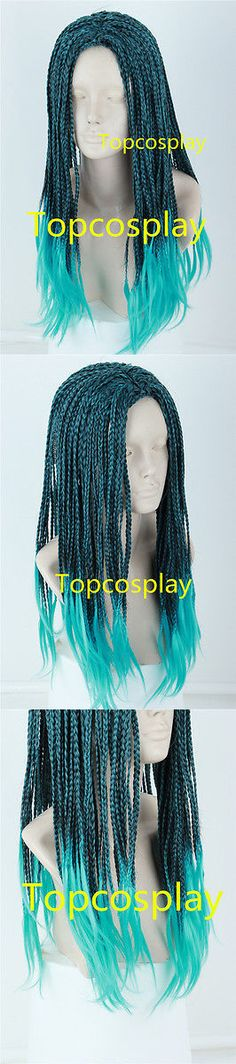 Descendants 2 UMA Braided Wig Use With Costume Halloween Child Cosplay Wig