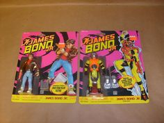 2 JAMES BOND JR FIGURE ONE IN SCUBA GEAR HASBRO UK ACTION FIGURES NEW MOC LOT #Kenner