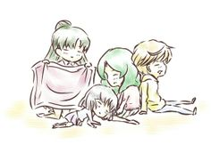 Sailor Moon / Outer Senshi nap time