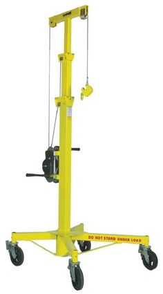 Sumner 780300 Roust-A-Bout, Height, x Base Garage Hoist, Garage Doors, Drywall Lift, Construction Lift, Cool Things To Build, Lifting Devices, Crane Lift, Block And Tackle, Welding Cart