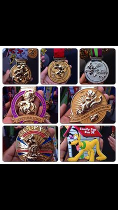 2014 WDW Dopey challenge medals - I am going to dominate this challenge