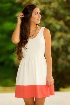 Easy Like Sunday Morning Dress-Coral