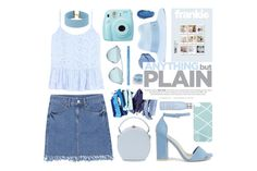 """""""azure"""" by dffn-dn ❤ liked on Polyvore featuring Givenchy, Velvet, Urban Decay, Drybar, Handle, Christian Dior, Nly Shoes, Maison Michel, Fujifilm and Steve Madden"""