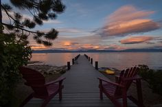 Enjoy Lake Tahoe sunsets from your private piling pier