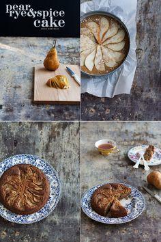 Pear Rye And Spice Cake - Cook Republic. Photo  Styling Sneh Roy please follow me @ http://www.pinterest.com/jeniferkane01/