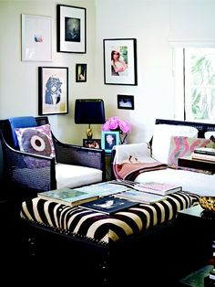 decor, chair, coffee tables, living rooms, frame, gallery walls, live room, zebra print, zebras