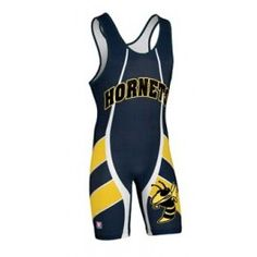 The Force wrestling singlet includes custom text