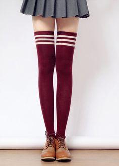[3 for 2] Taller Girls! 8 Colors Stripes Thigh High Long Socks SP153727 - SpreePicky  - 1