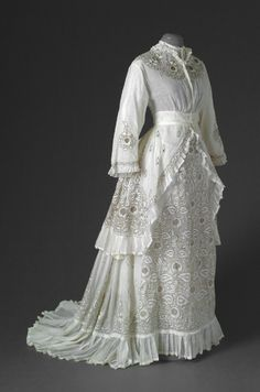 Summer day dress- 1870's