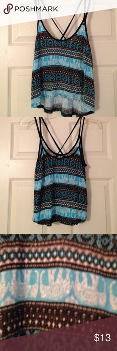 High Low Elephant Tank. NWOT Very cute on . Never worn. No trades . 0124 Tops Tank Tops