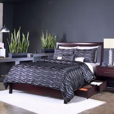 Espresso Floating Panel Low-profile Storage Bed - Overstock™ Shopping - Great Deals on Domusindo Beds