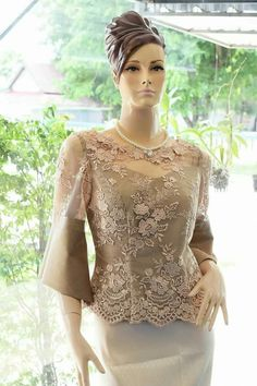 Pakistani Dress Design, Pakistani Dresses, Mom Dress, Lace Dress, Kimono Fashion, Fashion Dresses, Thailand Fashion, Kebaya Dress, Filipiniana