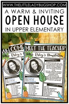 Back to school night means time for parents and students to meet the teacher, share important classroom information, introduce the curriculum, and make families feel welcome! It shouldn't have to be stressful. Creating an inviting open house has never been easier with these simple tips and ideas! See examples of the letter to parents and classroom info brochures I use in my upper elementary classroom. #thelittleladybugshop