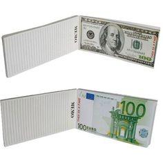 Zenginliğinizi göstermenin en güzel yolu Para Not Defteri! Adeta gerçek 100 Dolar veya 100 Euro'nun arkasına not yazıyormuşçasına kullanabileceğiniz 100 Dolar & Euro Notepad ile herkesin gözü sizin üzerinizde olacak!
