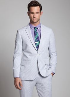 The Charleston Seersucker Suit - Grey