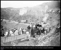 Exodo de refugiados españoles a Francia 1939