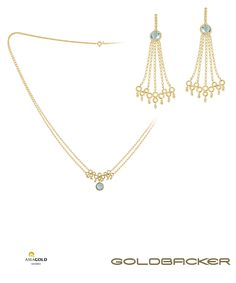 Coleção Gardenia feito em ouro amarelo 18k com pedra em topázio azul e detalhe em diamantes