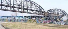 St Louis graffiti wall