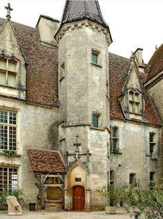 Châteauneuf-en-Auxois Castle in Burgundy, France