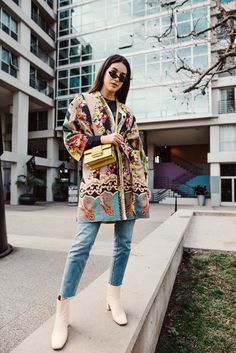 One of my favorite trends this winter season has been the statement coat. Whether it's a vibrant pattern, bright color or has embellished hardware.