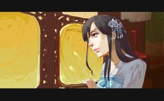 Mei En (head-canon name for Taiwan) in the Sui Dynasty - Art by lindaaleon.tumblr.com