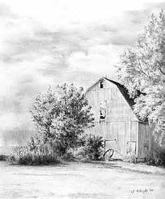 Landscape Drawings in Pencil.                              …