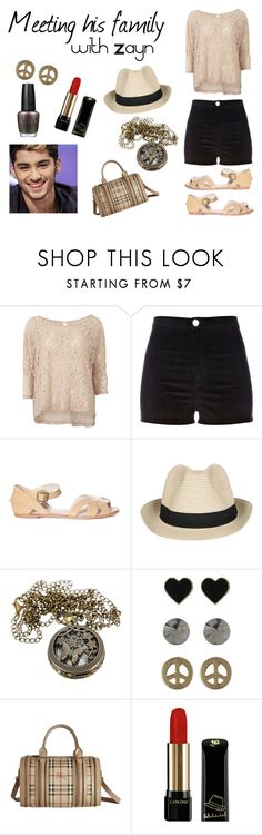 """""""Meeting his family"""" by oned-outfits ❤ liked on Polyvore featuring Vila Milano, River Island, Agent Ninetynine, Miso, Burberry, Lancôme and OPI"""