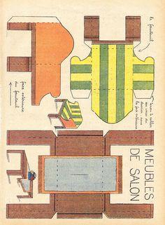 Muebles recortables para casas de mu ecas buscar con for Muebles gitanos