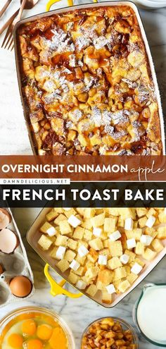 20 reviews · 3.5 hours · Vegetarian · Serves 8 · Turn to this easy casserole recipe for an effortless breakfast or brunch! There's nothing like waking up to this overnight french toast bake with cinnamon apples, maple syrup, cream cheese filling… Apple French Toast, French Toast Bake, Overnight French Toast Casserole, Best Casserole Dish, Easy Casserole Recipes, Brunch Recipes, Breakfast Recipes, Breakfast Ideas, Brunch Ideas