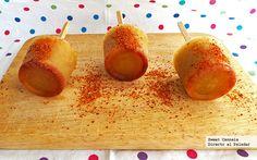 Paletas heladas de pepino con chile