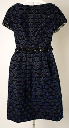 Cocktail dress House of Dior (French, founded 1947) Designer: Marc Bohan (French, born 1926) Date: fall/winter 1963–64