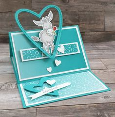 Valentine Love Cards, Animal Cards, Crafts For Girls, Creative Cards, Pattern Paper, Stampin Up Cards, Cardmaking, Card Ideas, Birthday Cards