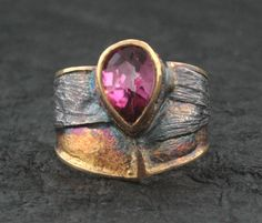 Marne Ryan - Love how the patina works so well with this stone.